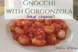 gnocchi with gorgonzola