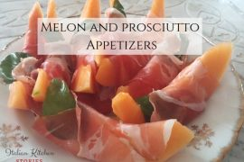 Melon and prosciutto Appetizers