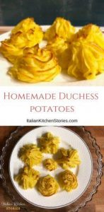 Homemade Duchess potatoes