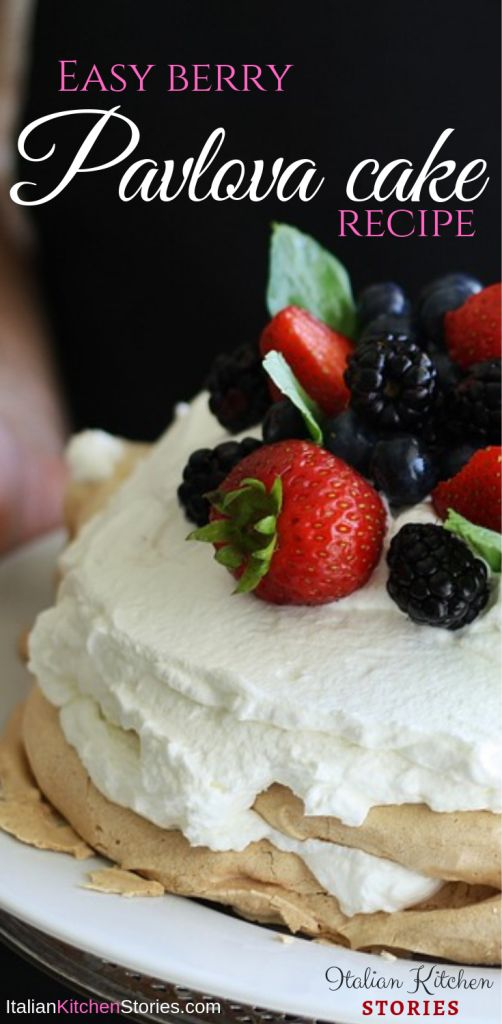 Easy Berry Pavlova cake recipe. Large Pavlova cake. How to make Pavlova cake?